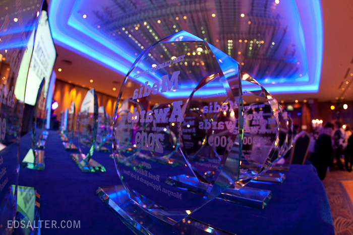 award table at cardiff hilton hotel